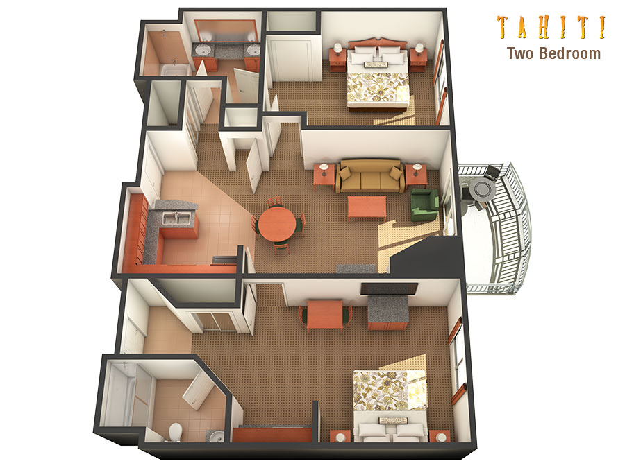Awesome Two Bedroom Standard Room