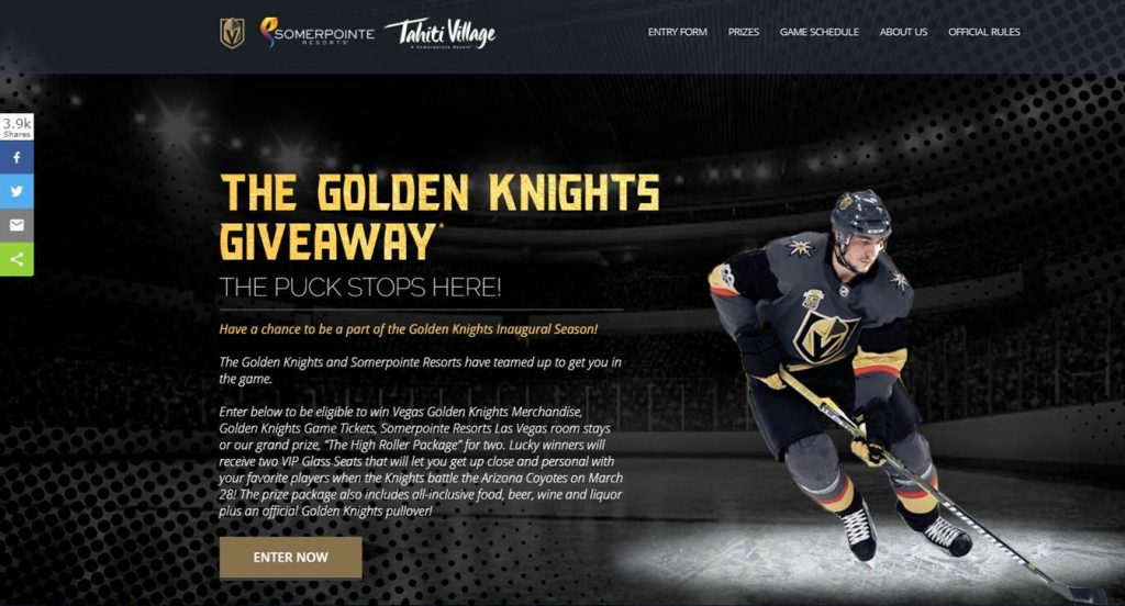 Golden Knights Giveaway