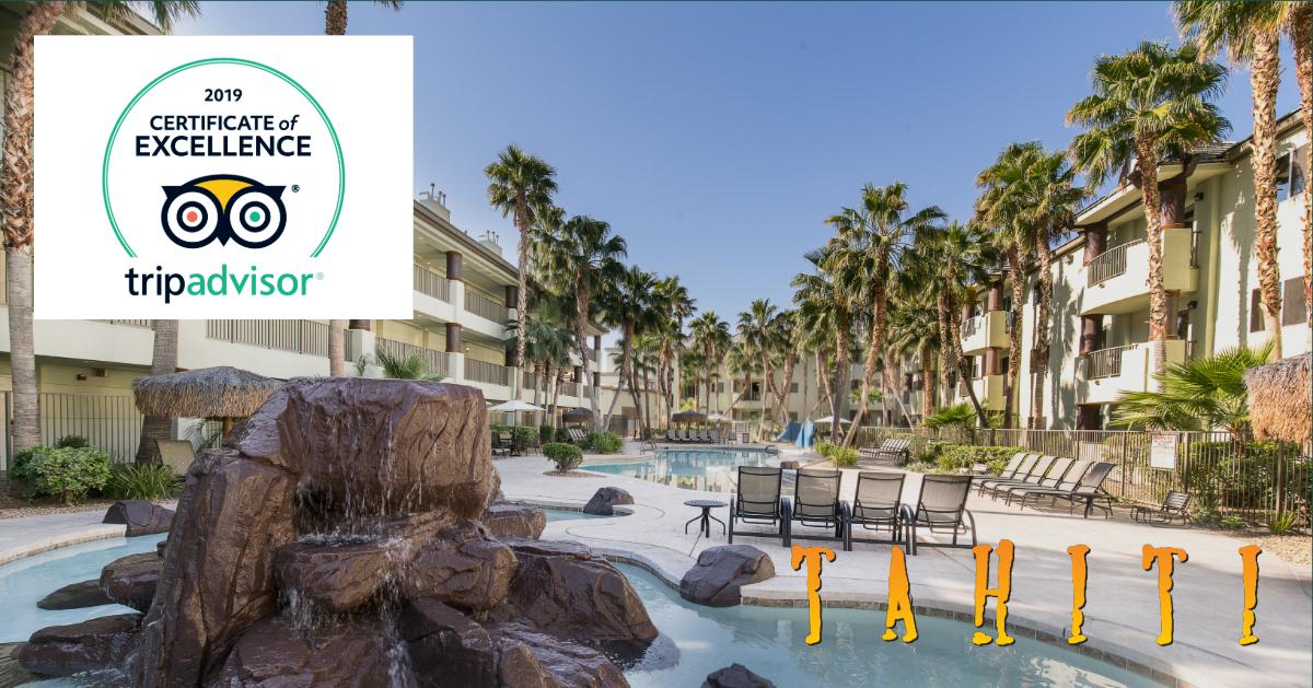 Tahiti Resort Las Vegas TripAdvisor Certificate of Excellence