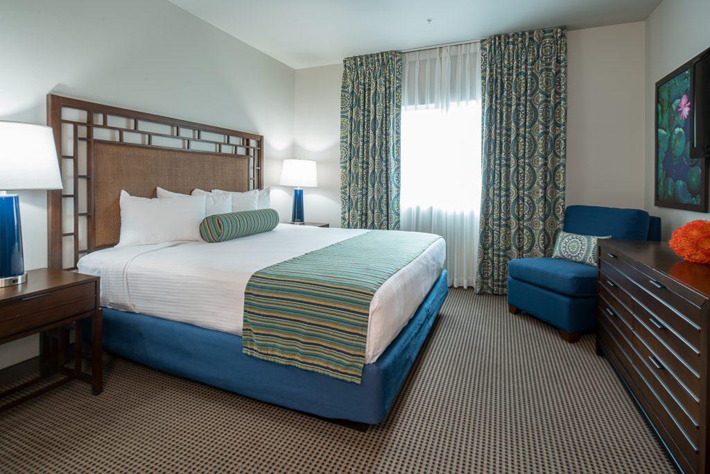 Tahiti Resort Las Vegas guest room remodel bedroom