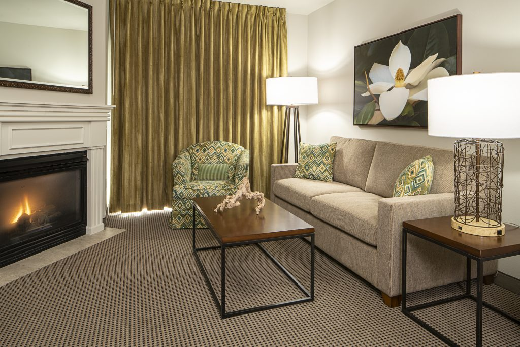 Tahiti Resort Las Vegas guest room remodel living room